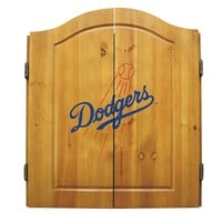Los Angeles Dodgers MLB Dart Board w/Cabinet xyz