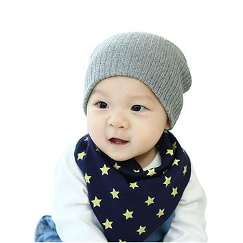 Warm Autumn Winter Children Hat Baby Kids Knitted Hat Newborns Boys Girls Cotton Head Warmer Crochet Baby Beanie Cap Accessories