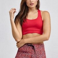 Seamless Bra in Deep Red by Pure Lime | New Arrivals | BANDIER