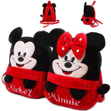 Mickey Minnie Plush Backpack