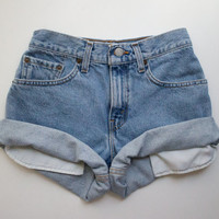 "ALL SIZES Vintage ""HERCULES"" Levis High Waisted Denim Shorts"