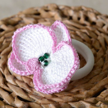Unusual handmade crochet scrunchie hair tie crochet ideas trendy hair