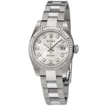 Rolex Lady Datejust 26 Silver Dial Stainless Steel Rolex Oyster Automatic Watch