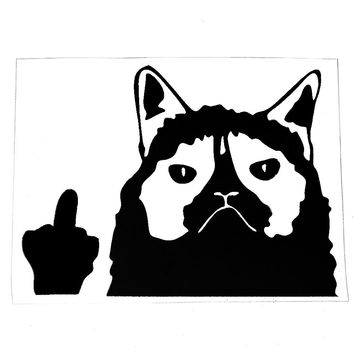 10.5*13.5cm Car Stickers and Decals Accessories Funny Grumpy Cat Car Styling Auto Accessories Motorcycle Body Decoration