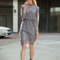 Camisole Shaped Lace One Piece Dress [4919459460]