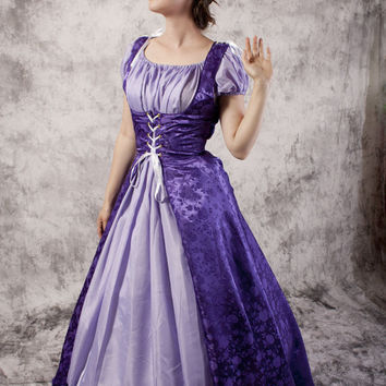 Bodice Dress Gown Renaissance Medieval Costume Wedding Wench LARP noble Chemise