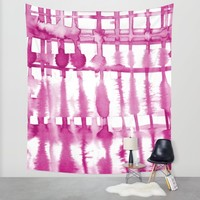 Wild Magenta Wall Tapestry by Lisa Argyropoulos | Society6