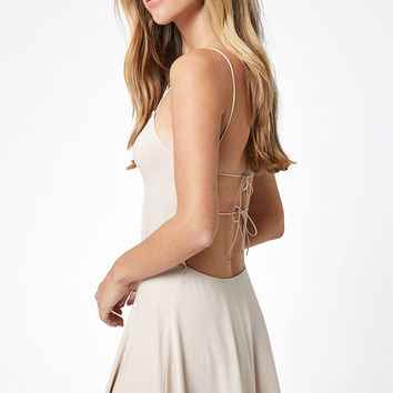 Lisakai Ribbed Cord Strap Mini Dress at PacSun.com
