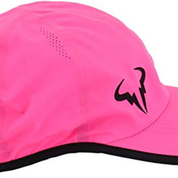Nike Unisex Rafa Bull Featherlight Tennis Hat Cap-Vivid Pink-Adjustable