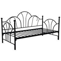 Twin size Contemporary Black Metal Day Bed Frame with Slats