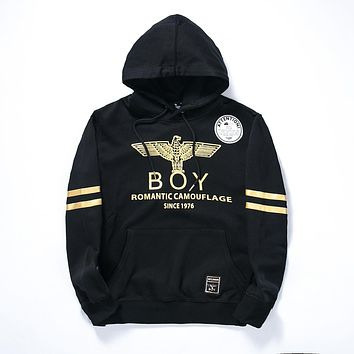 Men's Boy London Hoodie Black Gold Hooded Sweatshirt