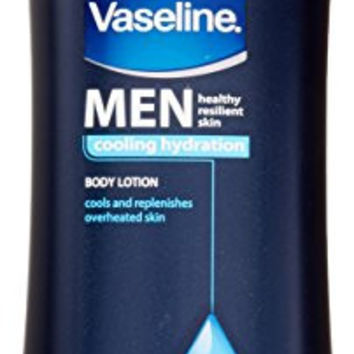 Vaseline Men Healthy Resilient Skin Colling Hydration Body Lotion Cools and Replenishes Overheated Skin 20.3 oz.