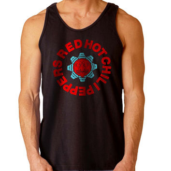 Red Hot Chili Peppers logos For Mens Tank Top Fast Shipping For USA special christmas ***