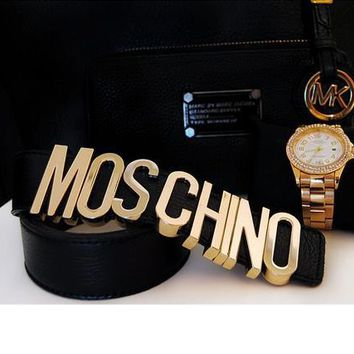 MOSCHINO letters Belt fashion wild candy candy belt-2