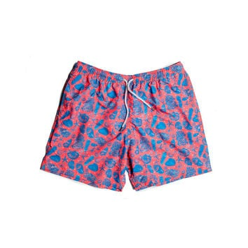 Estivo Trunks Sea Shells Red