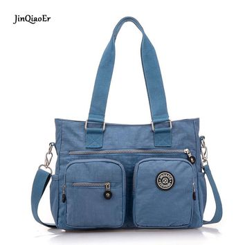 JinQiaoEr women mummy bag Super light water proof nylon leisure bag Oversized Shoulder Bag Handbag