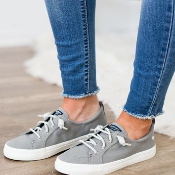 Sperry- Crest Vibe Linen In Grey