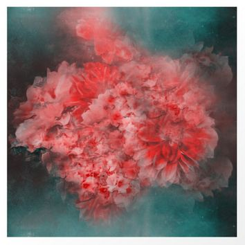 Abstract Red Flowers by Victoria Herrera