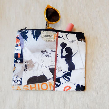 Make Up Bag Gift for Her/ Gift for Women/ Pencil Case/ Gift for Mom/ Gift for Wife/ Sister Gift/ BFF Gift/ Bridesmaid Gift/ Co Worker Gift