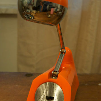 Vintage Eyeball Lamp Orange/Mid Century/Retro/Desk Lamp Clamp ON