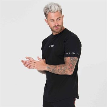 New Summer cotton short sleeves Brand Gyms fitness t-shirt men's Fashion Punisher t shirt men bodybuilding crossfit clothing