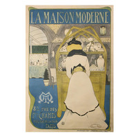 """La Maison Moderne,"" a French Belle Epoque Period Poster by Maurice Biais, 1901"