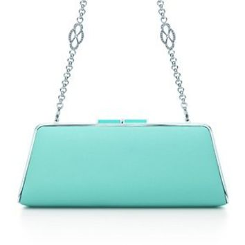 Tiffany & Co. -  Sabrina clutch in Tiffany Blue® smooth leather. More colors available.