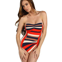 Marc by Marc Jacobs Vintage Stripe Pleated Maillot