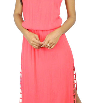 Watch the Sunset Coral Maxi Dress
