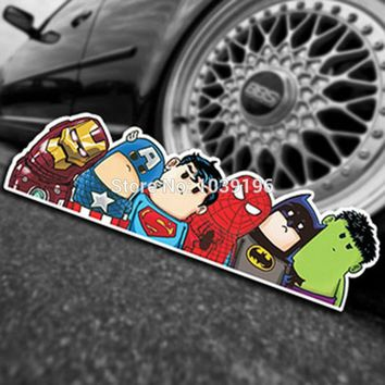 New Style Decoration Reflective Stickers Funny The Avengers Car Windows Bumper Decal Vinyl Decals