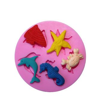 DIY Sea World Various Animals Silicone Mold Biscuit Cake Moulds Fondant Cake Decorating Tools Cookies Mold Kitchen Accessories