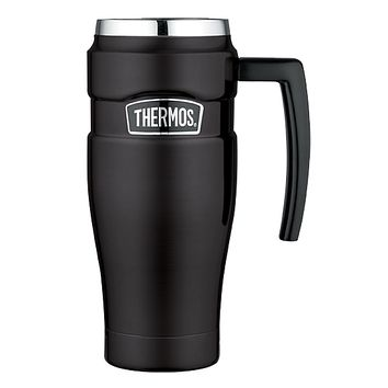 Thermos Stainless King Vacuum Insulated Travel Mug - 16 oz. - Stainless Steel-Matte Black [SK1000BKTRI4]