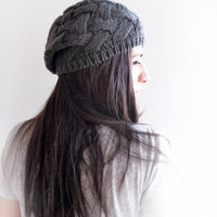 Grey Sloucy Hat, Women Accessories