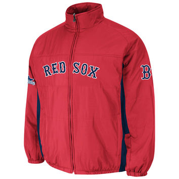 Boston Red Sox Authentic 2015 Therma Base Double Climate MLB Baseball Jacket (Scarlet)