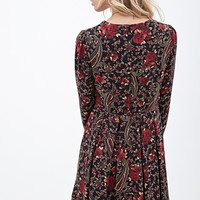 Paisley Rose Print Dress