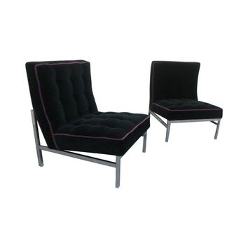 Pre-owned Knoll Mid-Century Modern Lounge Chairs - A Pair