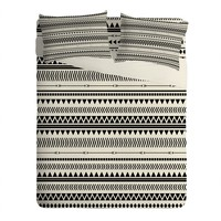 Allyson Johnson Black And White Aztec Pattern Sheet Set Lightweight
