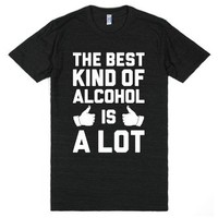 A Lot Of Alcohol-Unisex Athletic Black T-Shirt