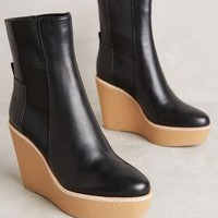 Sandy Wedge Boots in Black Size: