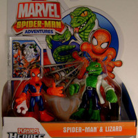 Spiderman Adventures Lizard Set 2 Playskool Heroes Hasbro Marvel Comics Figures