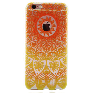 Newest Customized Orange Lace Case Cover for iPhone 7 7 Plus & iPhone 5s se & iPhone 6 6s Plus + Gift Box-463