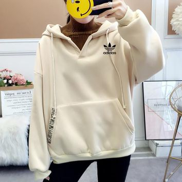 """Adidas"" Women Casual Fashion Multicolor Stitching Turtleneck Hoodie Long Sleeve Sweater Pullover Tops"