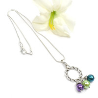 Circle of Love Necklace: Birthstone Necklace For Mom, Mothers Jewelry