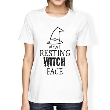Rwf Resting Witch Face Womens White Shirt