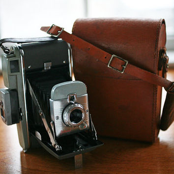 Vintage Polaroid Land 80 Camera  With Filter Set, Light Meter, AND Original Camera Bag - Excellent Condition