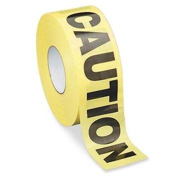 "Sparco Products Barricade Tape, """"Caution"""", 3""""x1000', Yellow/Black Case Pack 2"