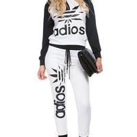 Black and White Adios Sweater