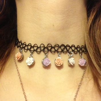 Pale Rose Tattoo Choker