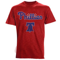 Majestic Threads Philadelphia Phillies Enthusiast Premium Tri-Blend Heathered T-Shirt - Red