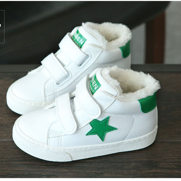 Thumbaby Winter Sneakers Shoes Baby Boy&Girls Casual Sneakers Canvas Sneakers Shoes High Classic Casual Baby Sneakers For Girls